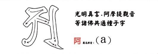 学习佛菩萨梵文种子字(附书写笔画顺序)插图11