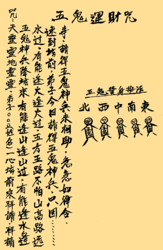 阴山五鬼法术 古籍抄本-电子书教程下载插图